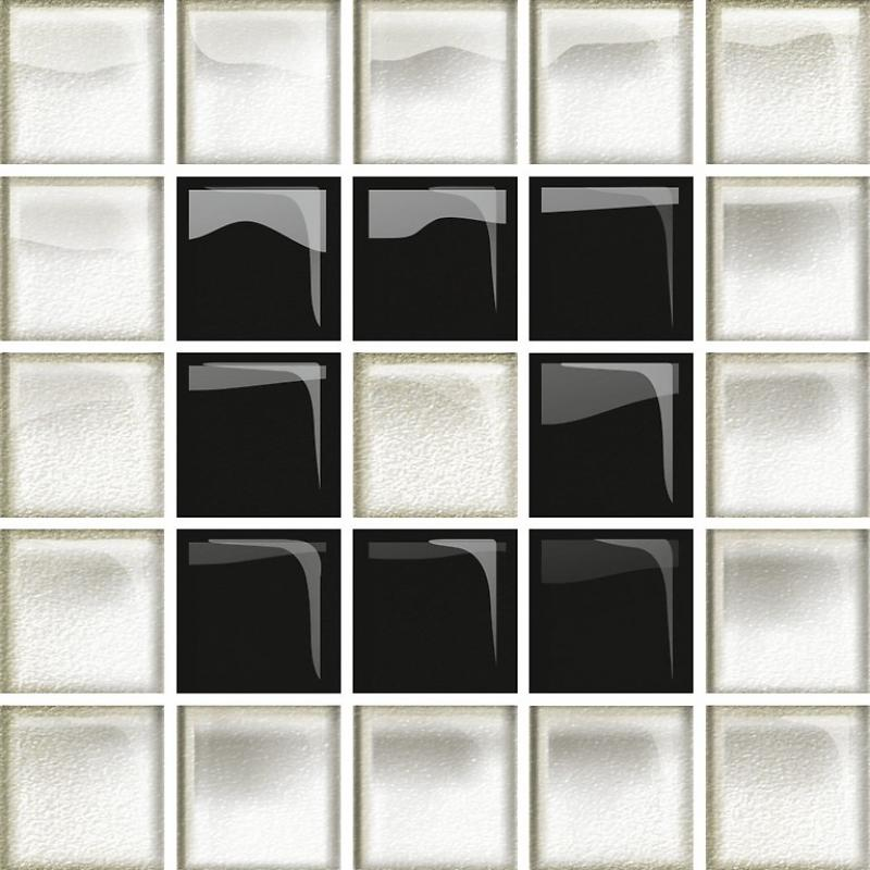 Декор Opoczno SINDI GLASS WHITE/BLACK MOSAIC В OD660-117