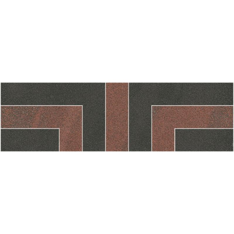 Бордюр Opoczno KALLISTO Black-Terracota Border